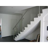 Buy cheap Reliable Stainless Steel Balustrade Systems , Side Mounted Glass Stair Railing from wholesalers