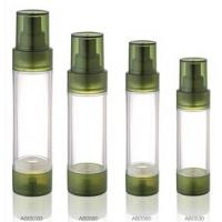 Buy cheap Empty Green Airless Pump Bottle 15ml 20ml 30ml Plastic Transparent Lotion Acrylic Bottles product