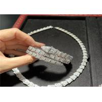 Buy cheap Custom 18K White Gold Necklace / Bracelet / Earrings With Genuine Diamonds product