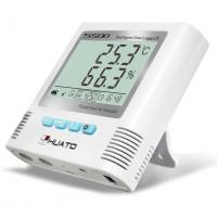 Warehouse Temperature And Humidity Data Logger : Sound light alarm import internal sensor high accuracy