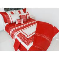 Buy cheap wholesale red embroidery queen/king comforter set for festival from wholesalers