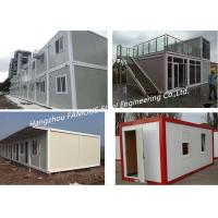 Buy cheap Folding Living Modern Prefab Homes G +1 Floor Modular Integrated Home For Labour Camp Or Site Office from wholesalers