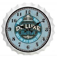 China New Sale Metal Beer Cap Wall Clocks Home Wall Art Latest Antique Beer Bottle Cap Novelty Wall Clock Decoration Custom on sale