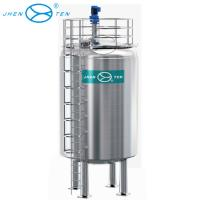 Buy cheap 100000 Liter Stainless Steel Storage Tank Vertical Type For Water / Milk / Juice Storage from wholesalers