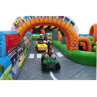 Buy cheap Kindergarten Baby Inflatable Fun City Football Blow Up Tunnels For Outdoor Activities from wholesalers