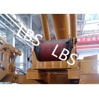 Buy cheap Electric / Hydraulic Crawler Crane Winch Crane Windlass Groove Drum from wholesalers