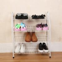 Buy cheap H270 Durable Steel Metal Mesh Shoe Rack Quick And Easy Assembly White Color product