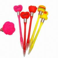 Buy cheap LED Flashing Glow Pen for Saint Valentine's Day Gift/ Plastic Pen, Novelty Design  from wholesalers