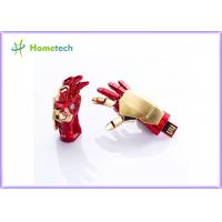 Buy cheap USB flash drive Creative IRON MAN pendrive Palm Shape Movable Joint U Disk Portable from wholesalers