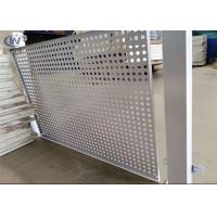 Buy cheap PVC Coated Round Steel Punching Hole Mesh Used For Fence /Perforated Metal Screen from wholesalers