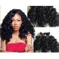 Buy cheap Body Wave Brazilian Curly Human Hair Weft With 100g  Natural Black from wholesalers
