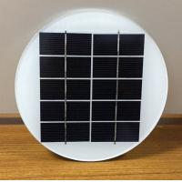 Buy cheap Better Houseware 5V 2W Dia158MM Diameter Round Circle Mono Photovoltaic Glass Laminated Solar Panel from wholesalers