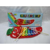 Buy cheap Educational Kids Musical Instruments Red Chili Knock Harp High Density / Steel Puzzle Toys from wholesalers