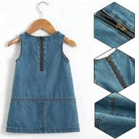 Buy cheap Summer Casual Baby Girl Denim Dress No Sleeves With Embroidery Sequin Patch from wholesalers