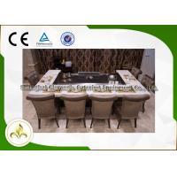 Rectangular Stove Top Teppanyaki Grill Japanese Hibachi Table With Ventilation System