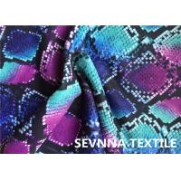 Buy cheap Wefting Knitted Swimwear Knit Fabric , Sublimation Printing Swimwear Spandex Fabric from wholesalers