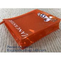 Buy cheap Hot Eco-Friendly Transparent Plastic PVC Cosmetic Bag With Zipper,Offset printing/Silk screen printing/Gravure printing/ from wholesalers