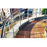 Buy cheap Stainless steel baluster post curved glass balcony railing designs from wholesalers
