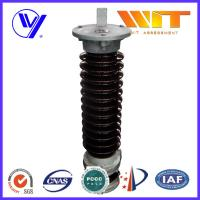 Buy cheap Single Phase Porcelain Surge Arrester Transmission Line Lightning Protection 126KV product