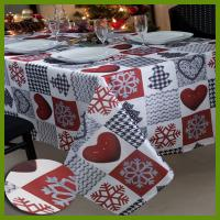 Buy cheap Hot selling Chrismas Snowflake n heat kids designs printed table decrational table cloths made of BSCI audited factory i from wholesalers