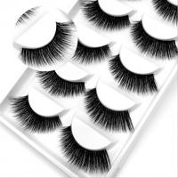 Buy cheap 3D false eyelashes natural realistic nude makeup transparent stalk hypoallergenic curling cross-border for 5 pairs of ey from wholesalers