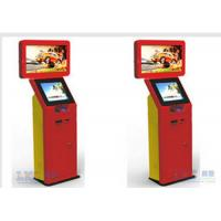 Buy cheap Trade Show Stainless Steel Self Check In Kiosk 32 Inch Dual Screen Custom Brand Name from wholesalers