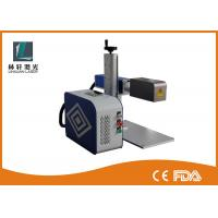 Buy cheap Table Type Metal Laser Marking Machine Reliable With Safe Fullcolsed Cabinet from wholesalers