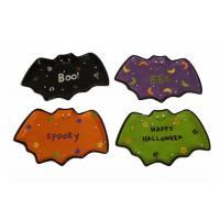 Buy cheap Handpainted Bat Shaped Candy Dish Halloween Dish Set Ceramic Stoneware Earthenware from wholesalers