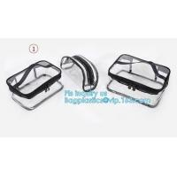 Buy cheap PVC Zip Lock Plastic Cosmetic Travel Packaging Bag, Travel Set Stand Up Bags For Agency With Custom Logo, Waterproof Pla from wholesalers