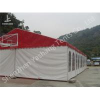 Buy cheap Red Roof White Wall PVC Cover Outdoor Party Tents Transparent PVC Fabric Windows from wholesalers