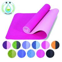 Buy cheap RUNSEN TPE Eco Friendly Yoga Mat With Carry Strap Anti Slip Comfortable Exercise Mat from wholesalers