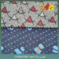Buy cheap Colorful Print Velvet Car Fabric / Auto Upholstery Fabric With Much Different Colors And Weight product