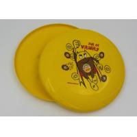 China Eco - Friendly Yellow Plastic Frisbee EN71 , Outdoor Toy Flying Saucer Frisbee on sale