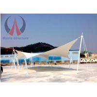 Buy cheap Custom Lightweight Tensile Fabric Structures Canvas Covered Buildings UVA Resistant from Wholesalers