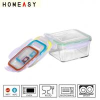 Buy cheap High temperature pyrex glass resistent lock storage container box from wholesalers