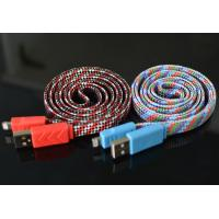 Buy cheap 1M Length Micro Usb Charging Cable Abrasion Resistant Comfortable Fabric Touch from wholesalers