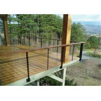 China Outdoor / Indoor Stainless Steel Cable Railing , Stainless Steel Stair Balustrade on sale