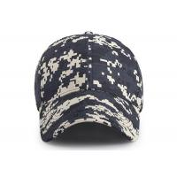 Buy cheap 6 - panel Canvas Waterproof Buttonhole Army Camo Cap / Front Curved Baseball Cap from wholesalers