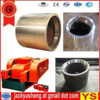Buy cheap double roll crusher spares,Mn13 roller crusher roll press,Mn13Cr2 roll crusher teeth roll from wholesalers