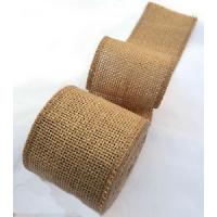 Buy cheap DIY Natural Jute Webbing 50mts roll Burlap Hessian Ribbon Trims Rustic Wedding Floristry from wholesalers