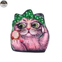 Buy cheap Lovely Cat Custom Printed Patches , Sew On Style Screen Printed Patches from wholesalers