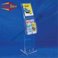 Buy cheap Double Sided Clear Acrylic POP Displays Stand , Magazine Displays with Sign Holder from wholesalers