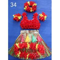 Buy cheap 2014 new fashion Cheerleading Grass Skirts with flower trim from wholesalers