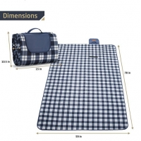 Buy cheap Machine Washable Polar Fleece Packable Picnic Blanket 78*59 Inches from wholesalers