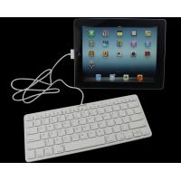 Buy cheap Black / White ABS iPad Wired Keyboard MFI Certified With Plastic Keys product