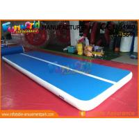 Buy cheap 6m x 2m Inflatable Sports Games , Dwf Material Gymnastics Mat Air Tumble Track from wholesalers