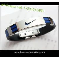 Buy cheap Eco-friendly 100% Custom silicone wristband/bracelets with debossed logo from wholesalers