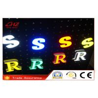 Buy cheap Clear Led Illuminate Decorative Neon Acrylic Sign Letters Through Hole For Hotel from wholesalers