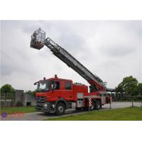 Buy cheap 4 Ladder Section Aerial Ladder Fire Truck Lower Failure Rate 10720×2500×4000 Size from wholesalers