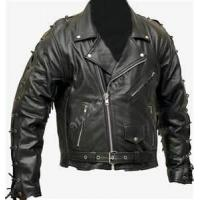 Buy cheap Fashion style S M L XL black soft thin leather 100% polyester jacket for men product